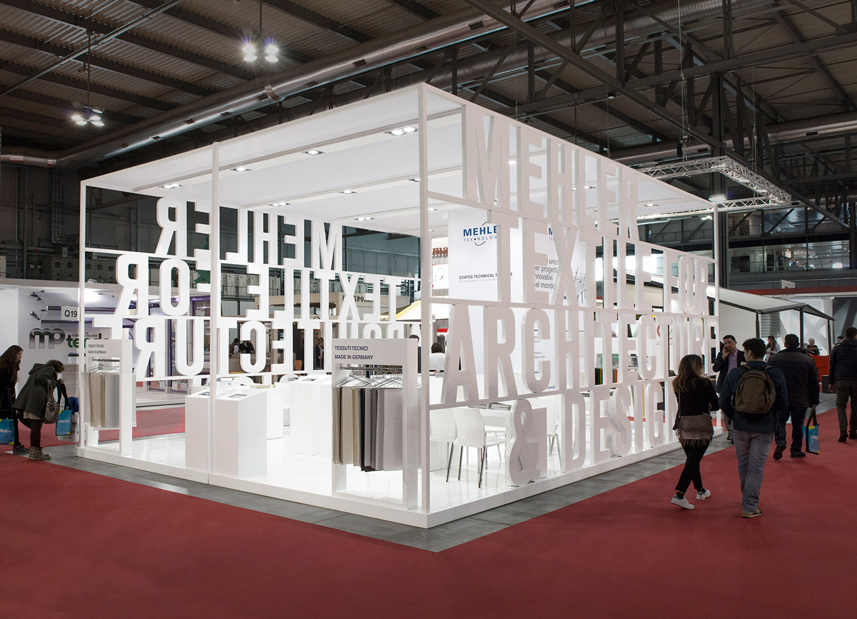 Expo Milano Stands : Mehler texnologies made expo textile exhibit stand
